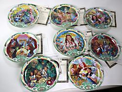 Set of 8 Wizzard of Oz Musical Plates