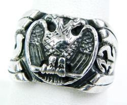 1932 Russian Eagle Ring - 950 Sterling Silver