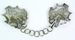 Rare Antique English Sterling Cape Clasp