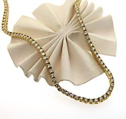 Unbelievably Beautiful Yellow Gold Tennis Necklace