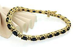 Must Have! Sapphire & Diamond Line Bracelet