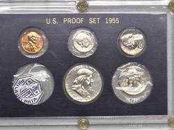 1955 Flat Pack US Proof Set in Holder
