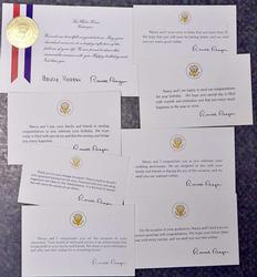 8 Official  White House Ronald Reagan Various Event cards