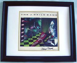 J. GEILS Autographed PETER WOLF CUSTOM FRAMED Signed LP