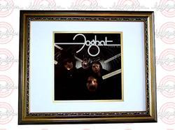 FOGHAT Autographed Stone Blue Signed Framed LP Album PS