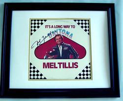 Mel Tillis Autographed Daytona framed Signed LP Album P