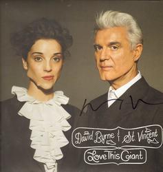 David Byrne Autographed Signed Love This Giant Album AF