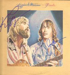 Loggins And Messina Autographed Finale LP Album UACC RD