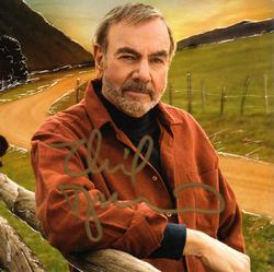 Neil Diamond Autographed Signed Melody Road CD Cover AF