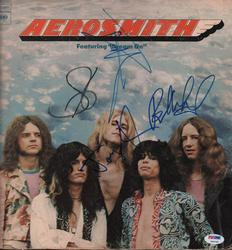 Aerosmith x4 Members Autographed Signed Dream Album Cov