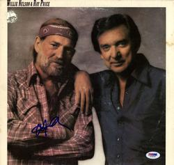 Willie Nelson Autographed San Antonio Rose Album Cover