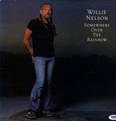 Willie Nelson Signed Over The Rainbow Album Cover RACC