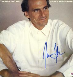 James Taylor Autographed Signed Why Im Here Album Cover