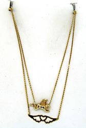 Sweet Cherub & Wing Double Necklace