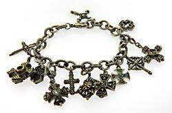 Judith Two Tone Charm Bracelet