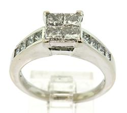 Sparkling Princess Cut Diamond Ring
