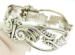 Superb Swirl Bracelet In Sterling