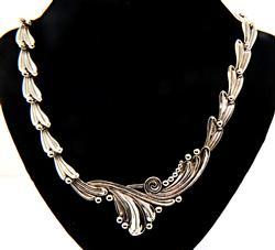 Stylish Margot De Taxco Swirl Necklace in Sterling