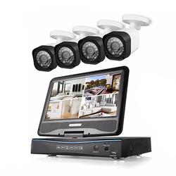 Bultin 1TB HDD 10.1in LCD monitor with 4pcs CCTV Camera