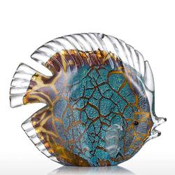Colorful Spotted Tropical Fish Glass Figurine Fish