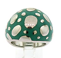 Le Vian Turquoise Sterling Silver Dome Ring
