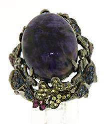 Carlo Viani Purple Gemstone Ring