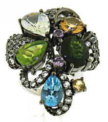 9.45 Carat Le Vian Multi Gemstone Ring