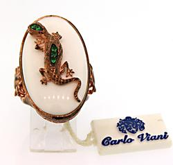 Carlo Viani  Gemstone & Tsavorite Lizard Ring