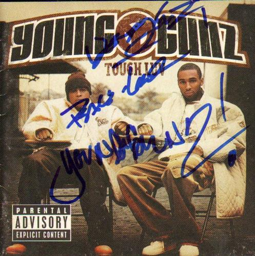 Young Gunz Autographed Tough Luv Signed CD Cover UACC R