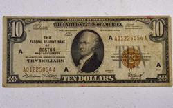 Series 1929 FRBN $10, Boston