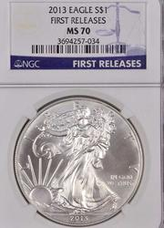 2013 MS70 Silver Eagle, NGC Early Release