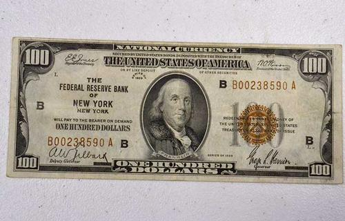 Nice Looking $100 NY 1929 FRBN