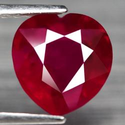 Intense 2.64ct top blood red heart cut Ruby