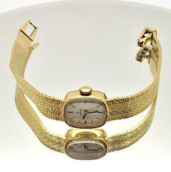 LADIES 14 KT GOLD OMEGA WATCH