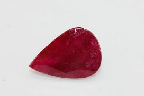 Natural Burmese Ruby Pear - 1.29 cts.