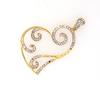 Stylized Diamond Heart Pendant in Gold