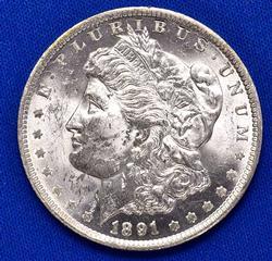 Nice Date 1891-O Morgan Dollar, BU