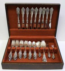 Grand Baroque Wallace Sterling Silver  Service for 12