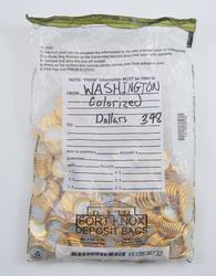 398 Coins - Colorized $1.00 Washington Dollars