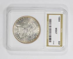 MS67 1884 Morgan Silver Dollar - NGS Graded