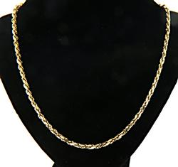 Unisex Thick Rope Chain in Yellow Gold