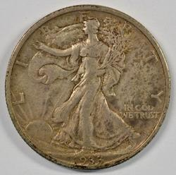 Choice original XF 1933-S Walking Liberty Half Dollar