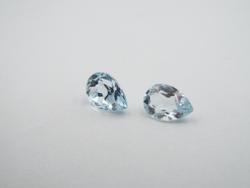 Enticing Sky Blue Topaz Pear shaped Gemstones