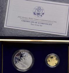 2002 Salt Lake Commem Proof Set with $5 Gold
