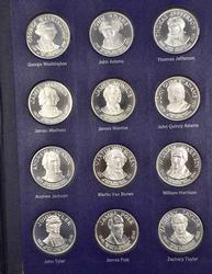 Big Franklin Mint Sterling Presidents Proof Set