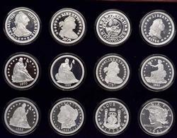 Rare Silver Dollar Fine Silver Copy Set