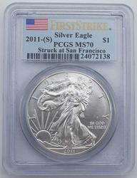 2011 (S) MS70 Silver Eagle PCGS First Strike