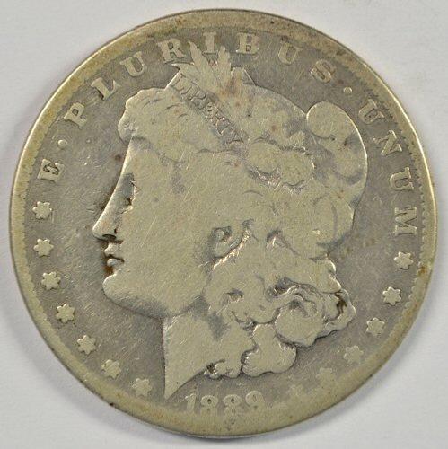 Rare affordable 1889-CC Morgan Silver Dollar