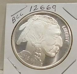 2016 One Ounce PROOF Silver Round - Indian/Buffalo