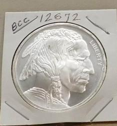 One Ounce PROOF Silver Round - Indian/Buffalo